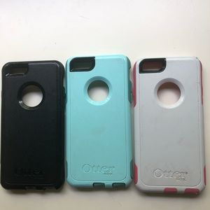 Set of 3 iPhone 6 otter boxes